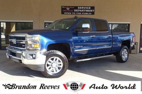 2016 Chevrolet Silverado 2500HD for sale at Brandon Reeves Auto World in Monroe NC