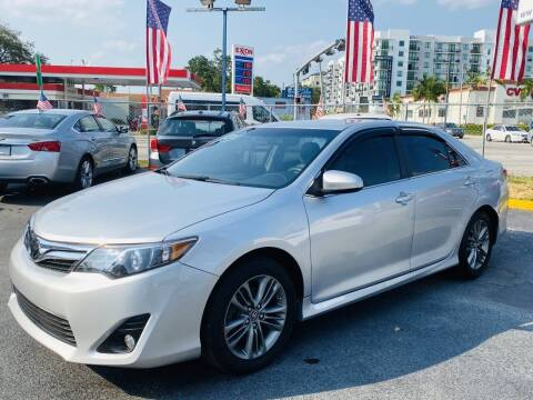 2012 Toyota Camry for sale at CHASE MOTOR in Miami FL