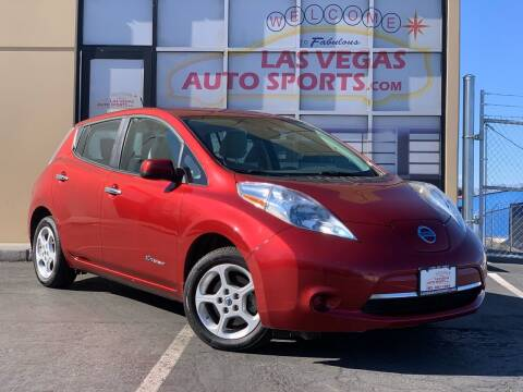 2014 Nissan LEAF for sale at Las Vegas Auto Sports in Las Vegas NV