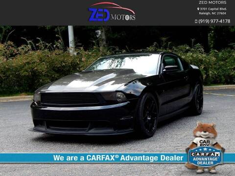 2011 Ford Mustang for sale at Zed Motors in Raleigh NC