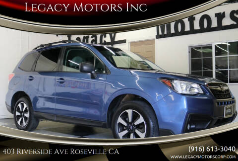 2017 Subaru Forester for sale at Legacy Motors Inc in Roseville CA