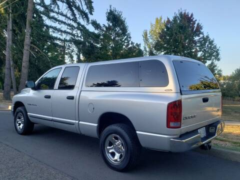2002 Dodge Ram Pickup 1500 for sale at CLEAR CHOICE AUTOMOTIVE in Milwaukie OR