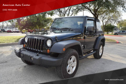 2007 Jeep Wrangler for sale at American Auto Center in Austin TX