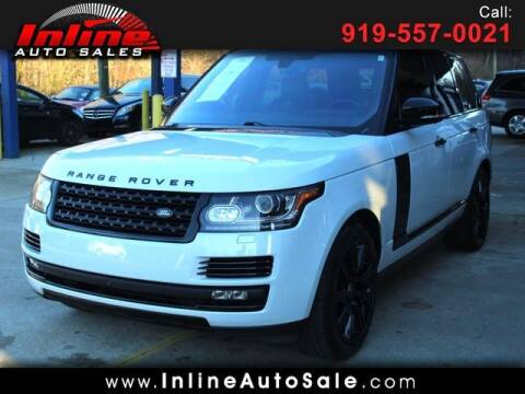 2016 Land Rover Range Rover for sale at Inline Auto Sales in Fuquay Varina NC