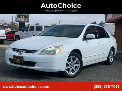 2003 Honda Accord for sale at AutoChoice in Boise ID