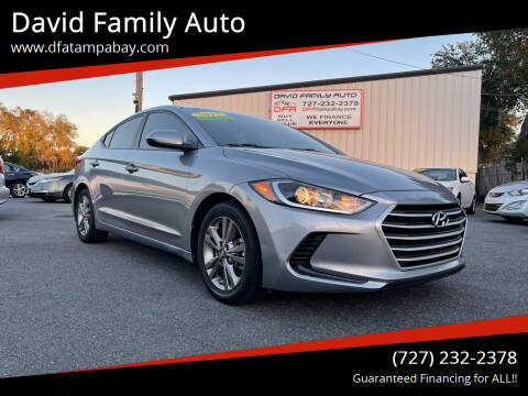 2017 Hyundai Elantra for sale at David Family Auto in New Port Richey FL