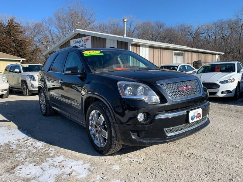 2011 GMC Acadia for sale at Victor's Auto Sales Inc. in Indianola IA