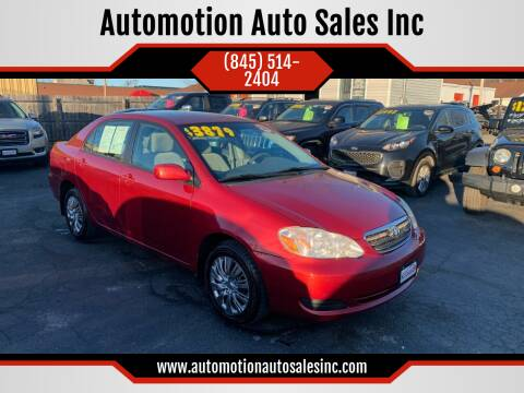 2006 Toyota Corolla for sale at Automotion Auto Sales Inc in Kingston NY