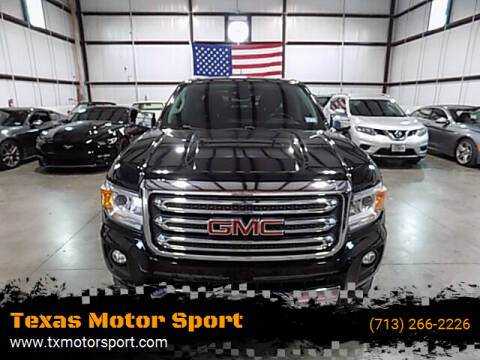 2015 GMC Canyon for sale at Texas Motor Sport in Houston TX