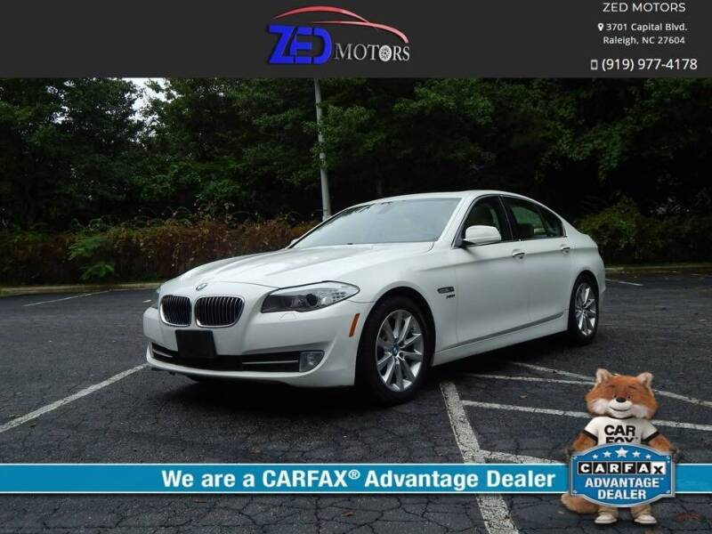 2011 BMW 5 Series for sale at Zed Motors in Raleigh NC