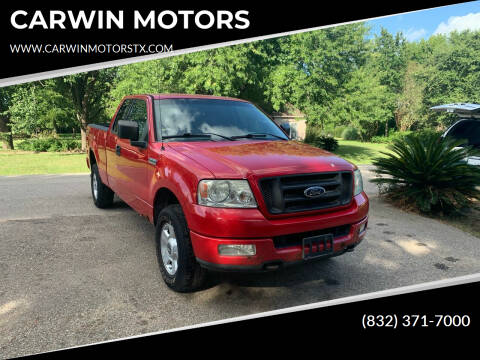 2004 Ford F-150 for sale at CARWIN MOTORS in Katy TX