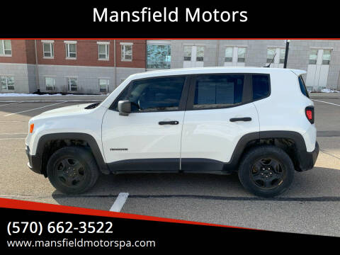 2017 Jeep Renegade for sale at Mansfield Motors in Mansfield PA