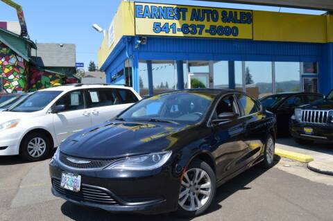 2016 Chrysler 200 for sale at Earnest Auto Sales in Roseburg OR