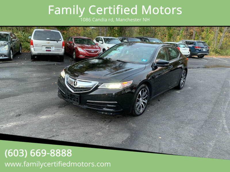 2015 Acura TLX for sale at Family Certified Motors in Manchester NH