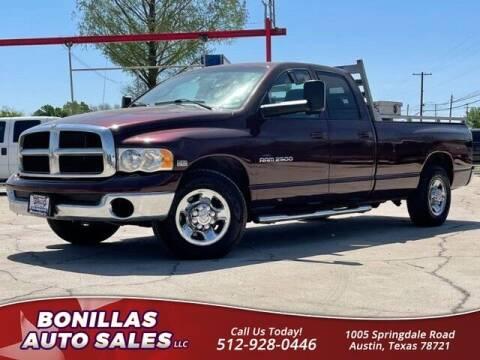 2004 Dodge Ram Pickup 2500 for sale at Bonillas Auto Sales in Austin TX