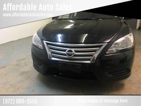 2015 Nissan Sentra for sale at Affordable Auto Sales in Dallas TX