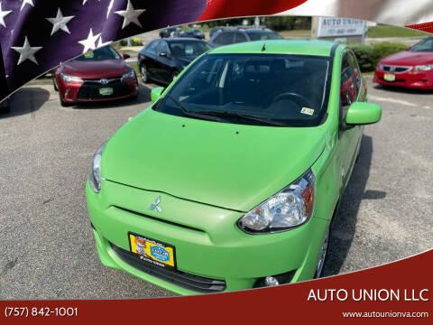 2014 Mitsubishi Mirage for sale at Auto Union LLC in Virginia Beach VA