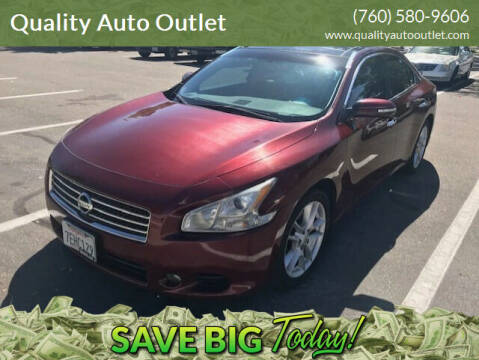 2011 Nissan Maxima for sale at Quality Auto Outlet in Vista CA