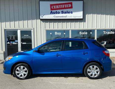 2009 Toyota Matrix for sale at Certified Auto Sales in Des Moines IA