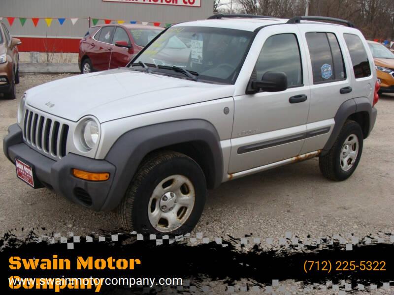 2004 Jeep Liberty for sale at Swain Motor Company in Cherokee IA
