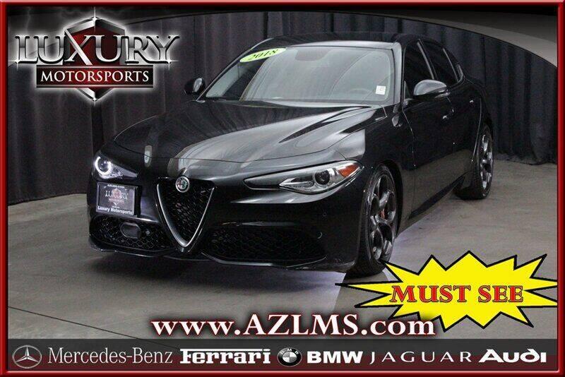 2018 Alfa Romeo Giulia for sale at Luxury Motorsports in Phoenix AZ