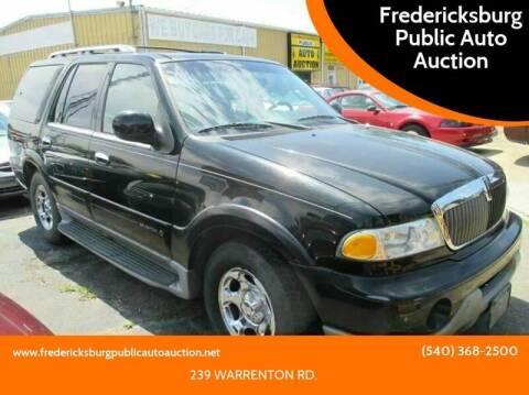2002 Lincoln Navigator for sale at FPAA in Fredericksburg VA