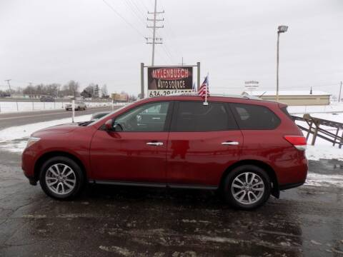 2015 Nissan Pathfinder for sale at MYLENBUSCH AUTO SOURCE in O` Fallon MO