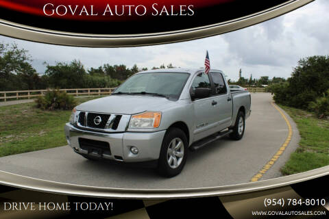 2014 Nissan Titan for sale at Goval Auto Sales in Pompano Beach FL
