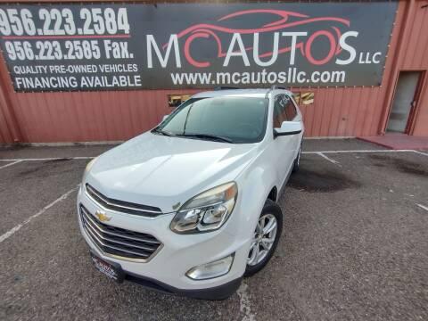2016 Chevrolet Equinox for sale at MC Autos LLC in Pharr TX