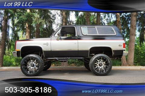 1988 Chevrolet Blazer for sale at LOT 99 LLC in Milwaukie OR