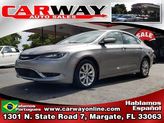 2015 Chrysler 200 for sale at CARWAY Auto Sales in Margate FL