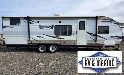 2016 Forest River WILDWOOD T281QBXL for sale at SOUTHERN IDAHO RV AND MARINE in Jerome ID