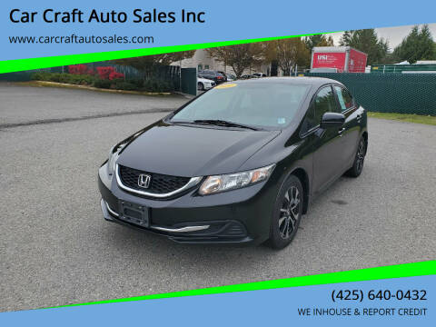 2014 Honda Civic for sale at Car Craft Auto Sales Inc in Lynnwood WA