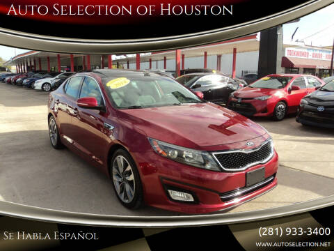 2014 Kia Optima for sale at Auto Selection of Houston in Houston TX