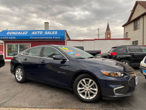 2016 Chevrolet Malibu for sale at Gonzalez Auto Sales in Joliet IL