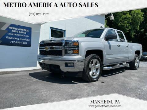 2015 Chevrolet Silverado 1500 for sale at METRO AMERICA AUTO SALES of Manheim in Manheim PA