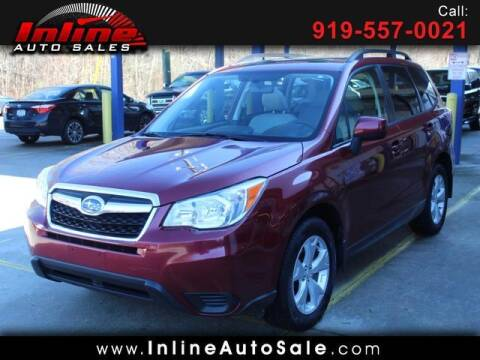 2015 Subaru Forester for sale at Inline Auto Sales in Fuquay Varina NC