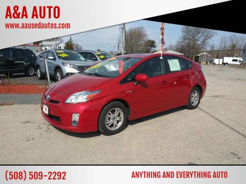 2010 Toyota Prius for sale at A&A AUTO in Fairhaven MA