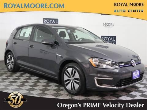 2016 Volkswagen e-Golf for sale at Royal Moore Custom Finance in Hillsboro OR