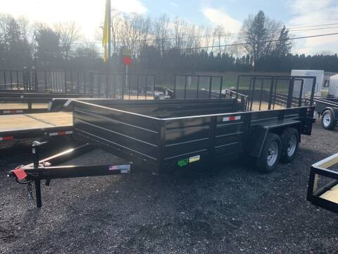 2021 MCT 7x16 Solid Side for sale at Smart Choice 61 Trailers in Shoemakersville PA