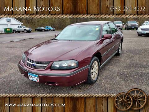 2004 Chevrolet Impala for sale at Marana Motors in Princeton MN