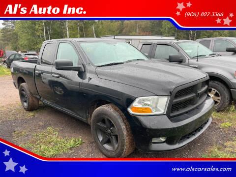 2012 RAM Ram Pickup 1500 for sale at Al's Auto Inc. in Bruce Crossing MI