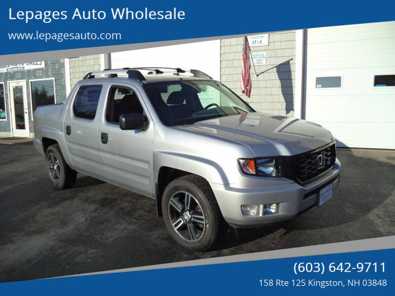 2014 Honda Ridgeline for sale at Lepages Auto Wholesale in Kingston NH