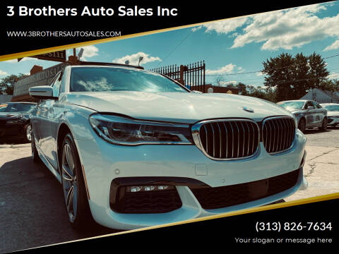 2018 BMW 7 Series for sale at 3 Brothers Auto Sales Inc in Detroit MI