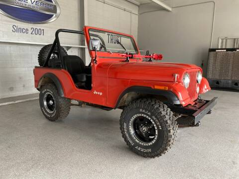 1979 Jeep CJ-5 for sale at TANQUE VERDE MOTORS in Tucson AZ