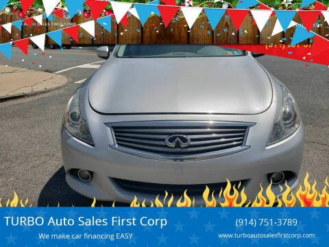 2010 Infiniti G37 Sedan for sale at TURBO Auto Sales First Corp in Yonkers NY
