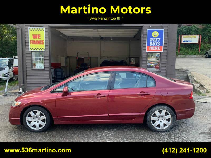 2010 Honda Civic for sale at Martino Motors in Pittsburgh PA