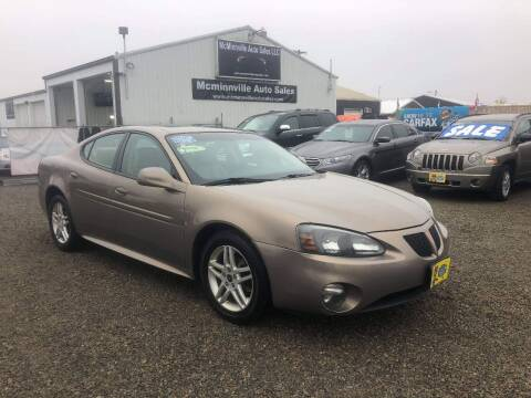 2007 Pontiac Grand Prix for sale at McMinnville Auto Sales LLC in Mcminnville OR