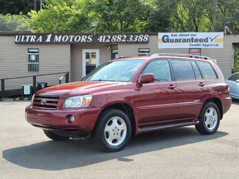 2007 Toyota Highlander for sale at Ultra 1 Motors in Pittsburgh PA