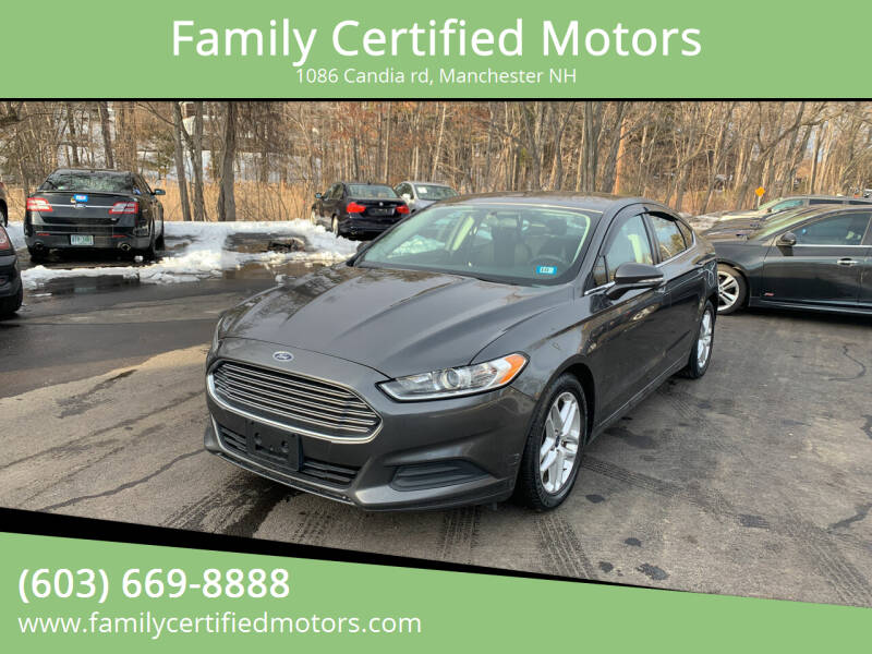 2015 Ford Fusion for sale at Family Certified Motors in Manchester NH
